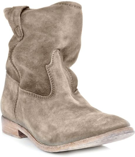 Isabel Marant Jenny Suede Boots in Brown (taupe)