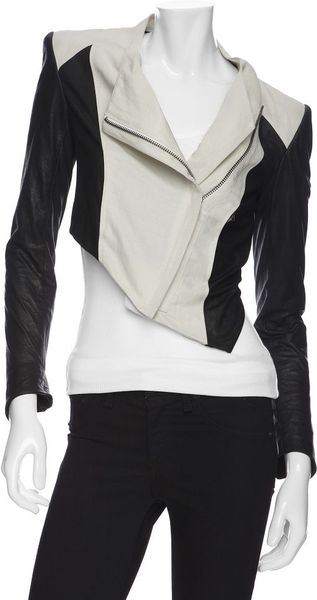 Helmut Lang  Ramie Combo Crop Jacket in Black (020)
