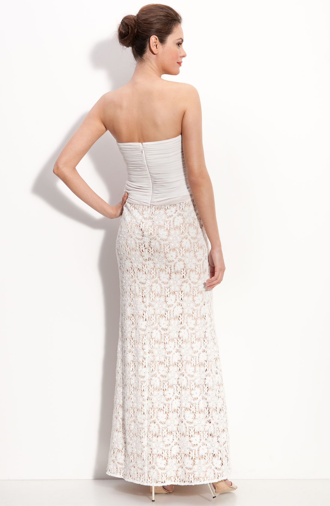 Turmec » js collections dress strapless long evening dress
