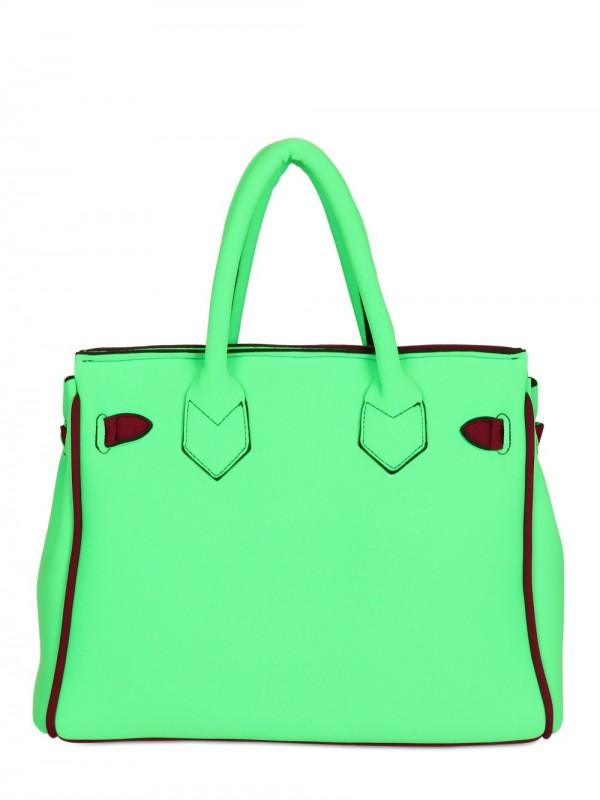 edad455aaf Lyst - Leghilà B-bag Small Neoprene Top Handle in Green