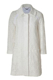 See By Chloé Ivory Cotton Lace Coat - Lyst