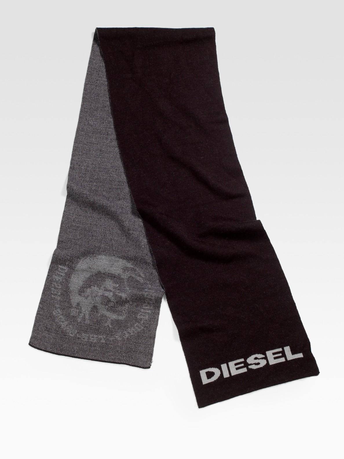 diesel katia service scarf in black for lyst