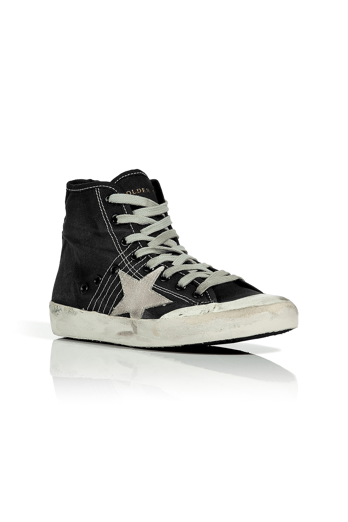 golden goose deluxe brand black pen star francy sneakers in black lyst. Black Bedroom Furniture Sets. Home Design Ideas