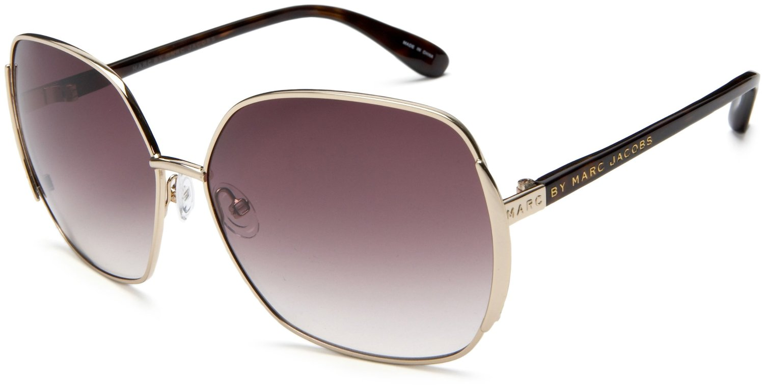 Marc Jacobs Gold Frame Sunglasses : Marc By Marc Jacobs Womens Mmj 098 S Metal Sunglasses in ...