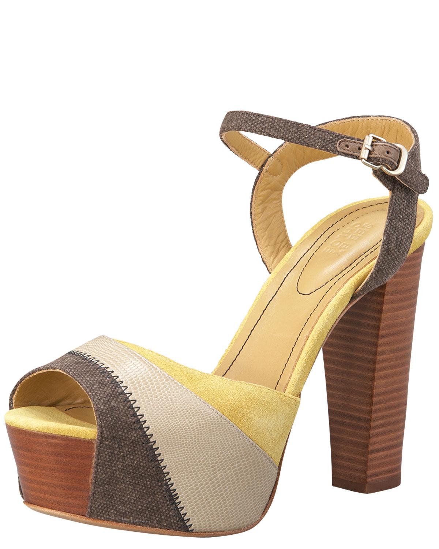 Lyst Chlo 233 Colorblock Platform Sandal