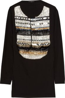 Balmain Embellished Cotton Top - Lyst
