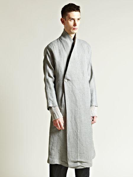 Damir Doma Mens Kimono Sleeve Coat in Gray for Men (grey ...