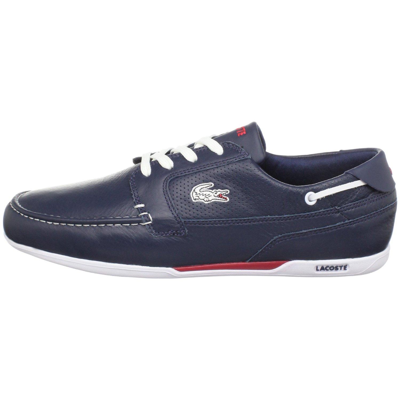 lacoste mens dreyfus boat shoe in white for blue