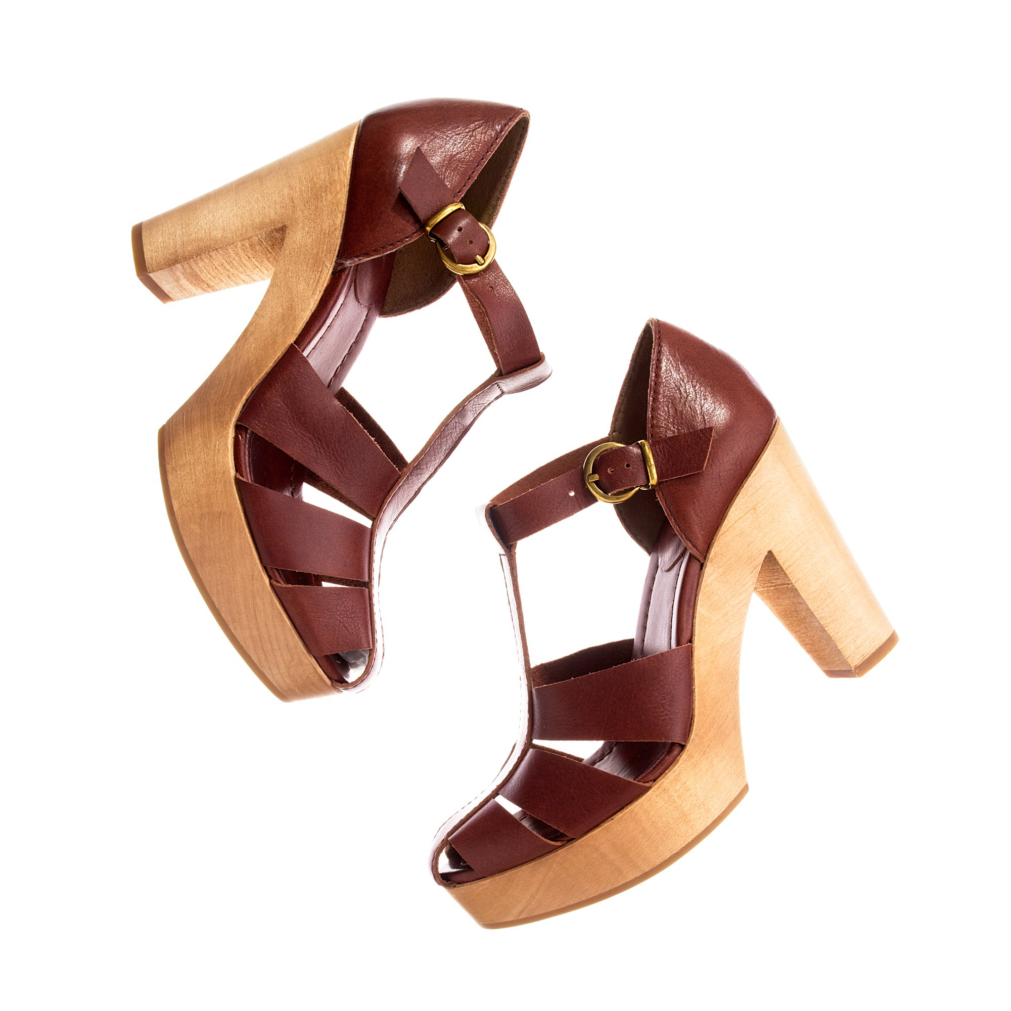 bd3966f0efd746 Lyst - Madewell The High Road Sandal in Brown