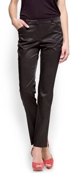 Mango Straightcut Suit Trouser in Black (02)