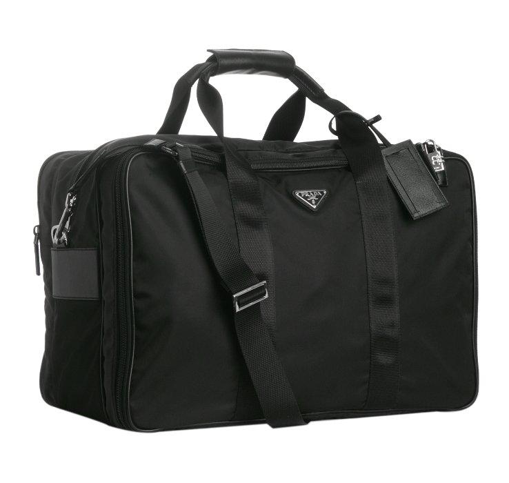 Prada Black Nylon Large Travel Bag in Black for Men | Lyst