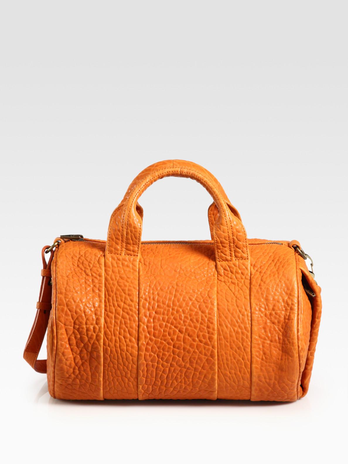 alexander wang rocco duffle bag in orange lyst. Black Bedroom Furniture Sets. Home Design Ideas
