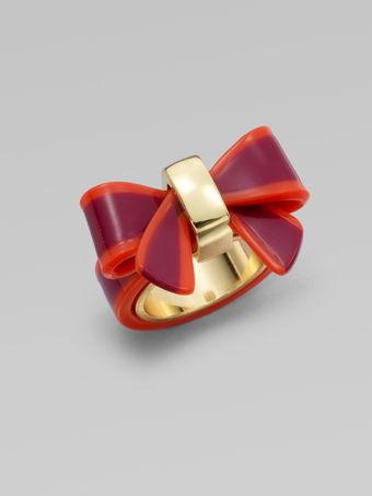 Marc By Marc Jacobs Colorblocked Bow Ring - Lyst