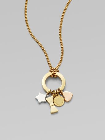 Marc By Marc Jacobs Mixed Charm Pendant Necklace - Lyst