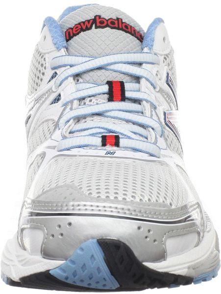 New Balance Womens Stability Running Shoe in Gray (grey/tomato