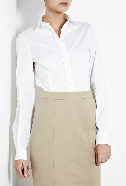 Womens White Fitted Blouses 119