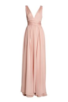 Halston Heritage Bisque Ultimate Silk Goddess Gown - Lyst