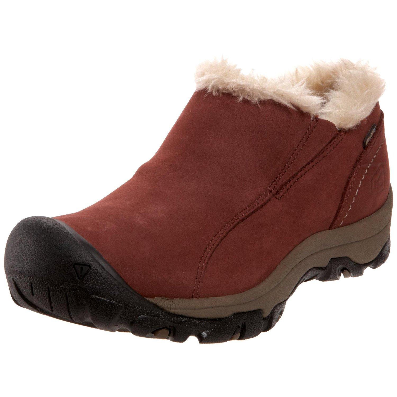 keen womens brighton slip on wp winter shoe in brown