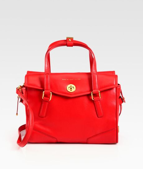 Marc By Marc Jacobs Kitty St. James Satchel in Red