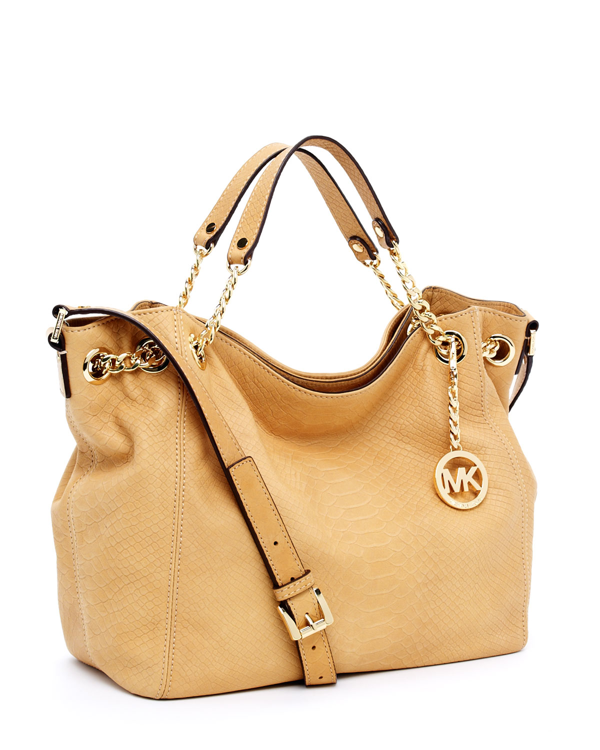 ebe382758713 Michael Kors Jet Set Chain Medium Gather Shoulder Tote, Tan in Brown ...