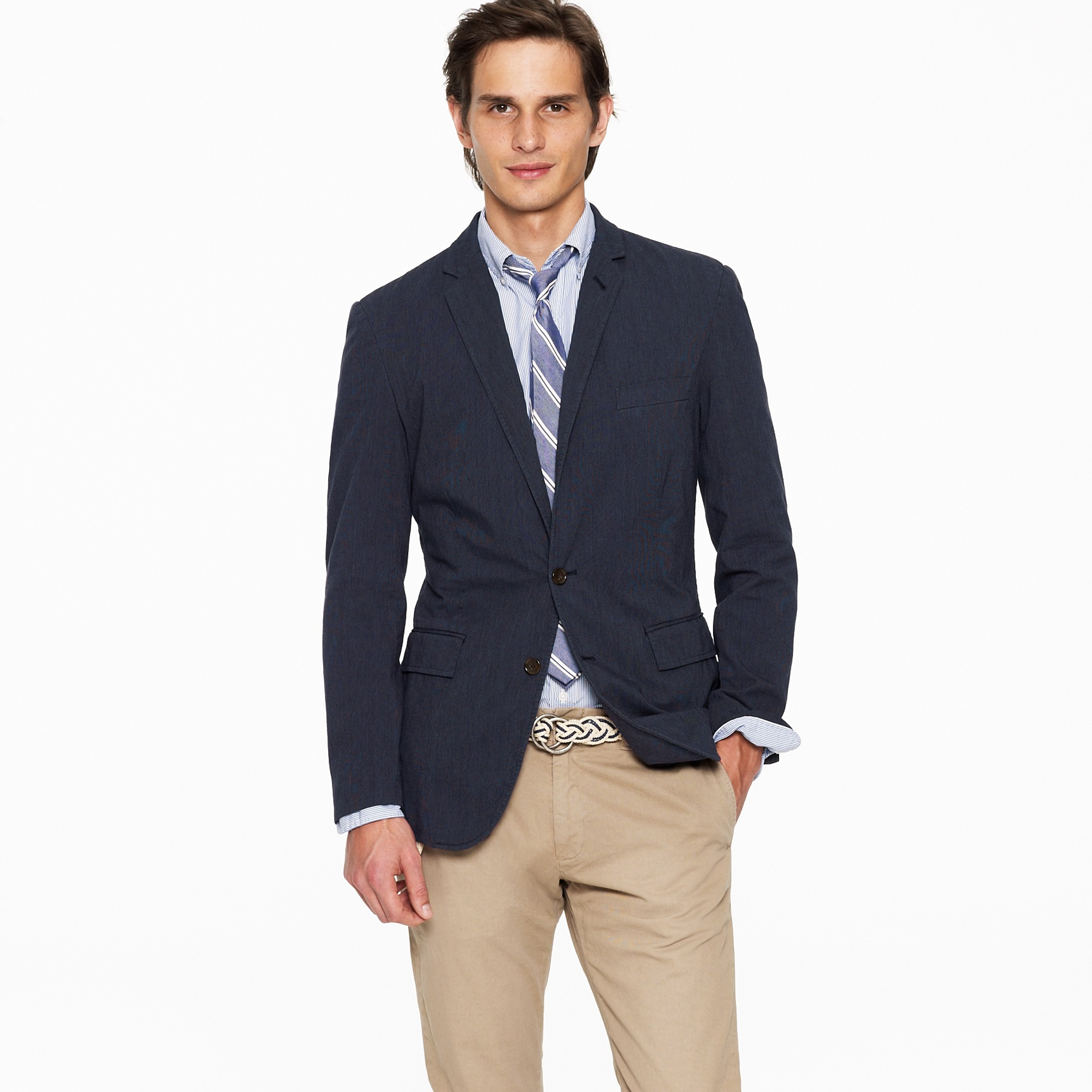 J.crew Ludlow Sportcoat In Japanese Cotton Twill in Blue for Men ...