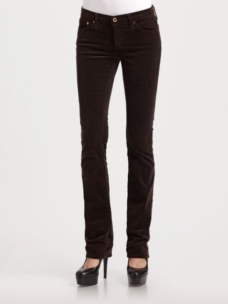 Ag Adriano Goldschmied Ballad Bootcut Corduroy Jeans in Brown | Lyst