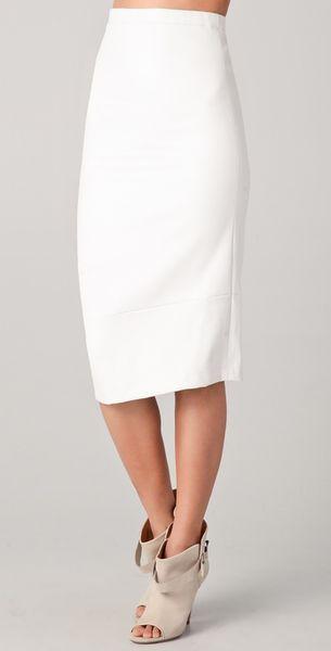 zero cornejo leather skirt in white lyst