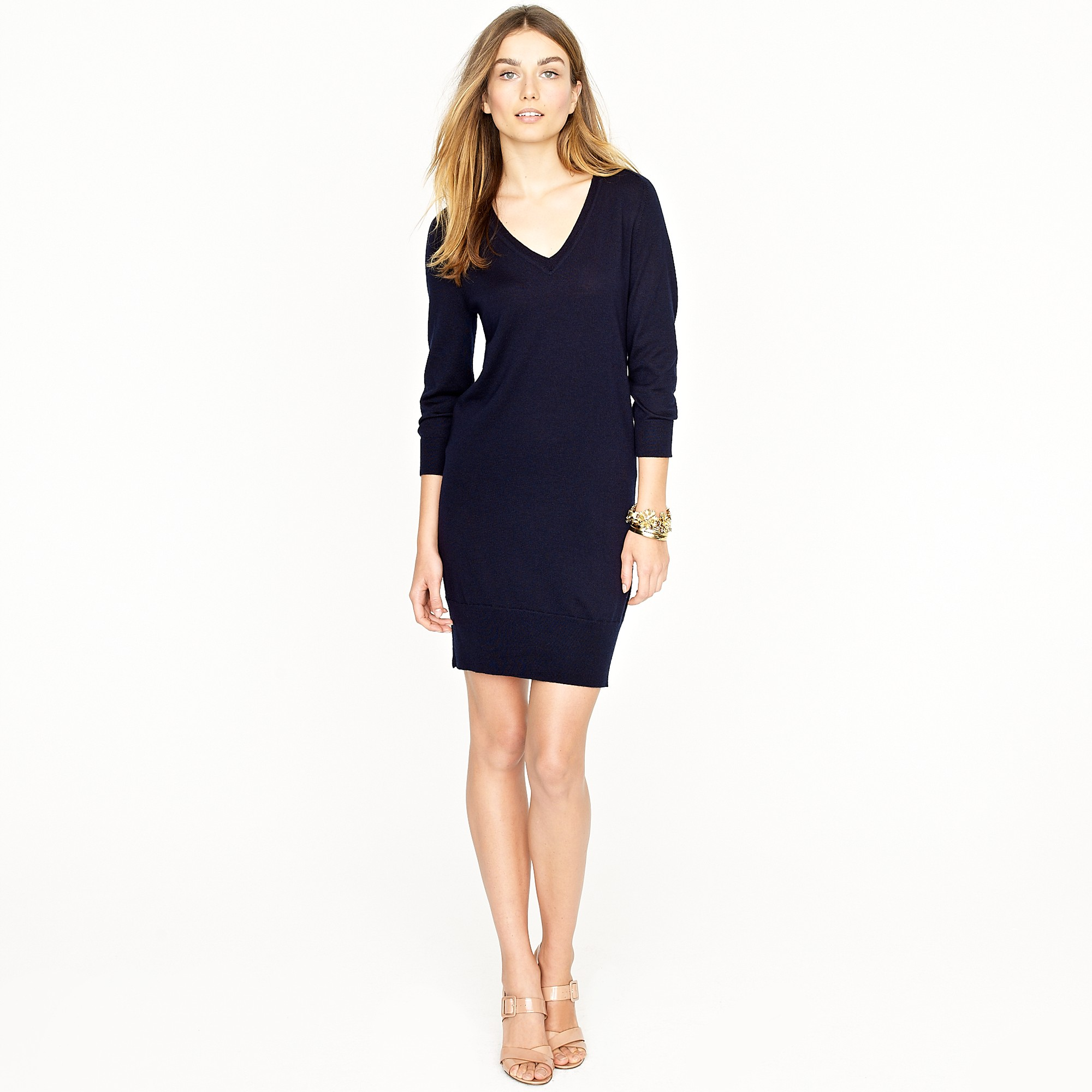 J.crew Merino Sweater-dress in Blue | Lyst