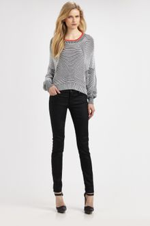 Alexander Wang Bi-color Rib Sweater - Lyst