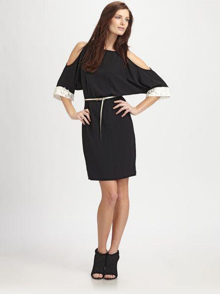 Sachin & Babi Gia Opensleeve Dress with Belt in Black (onyx)