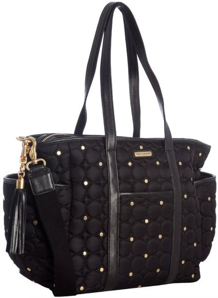 rebecca minkoff black quilted nylon marissa baby bag in black lyst. Black Bedroom Furniture Sets. Home Design Ideas