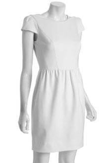 Shoshanna Ivory Ponte Cap Sleeve Tulip Skirt Dress - Lyst