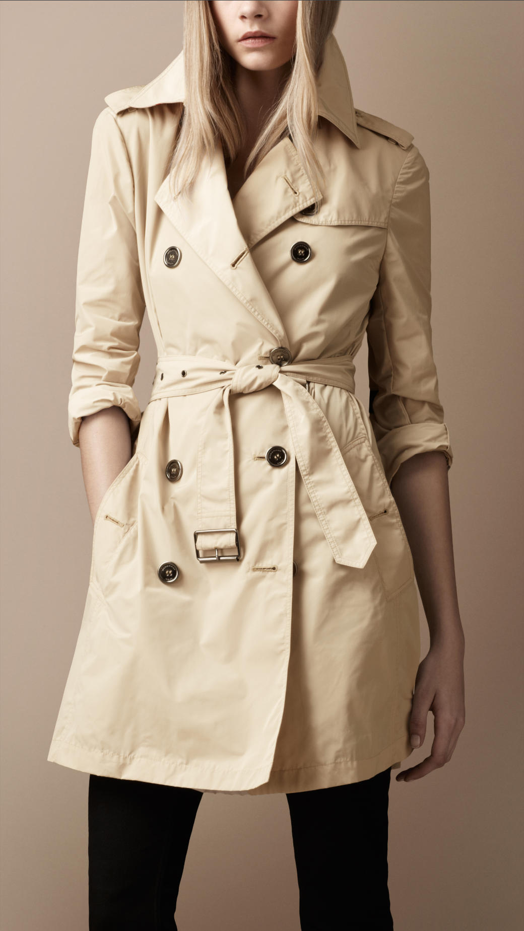 burberry brit packaway trench coat in natural lyst. Black Bedroom Furniture Sets. Home Design Ideas