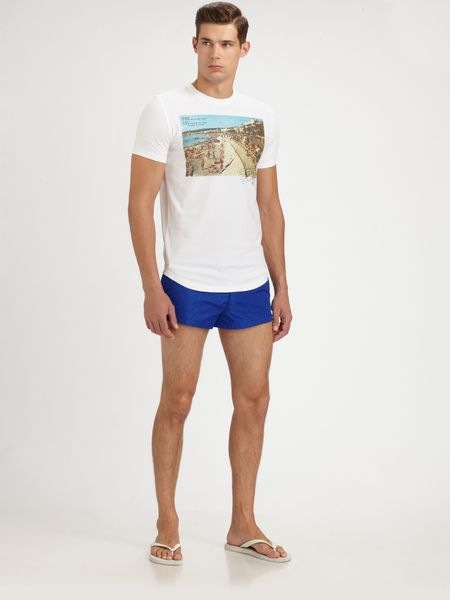 Dsquared2 Swim Trunks in Blue for Men - Lyst