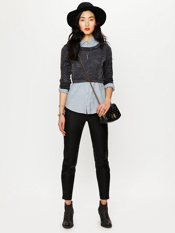superb black crop jumper outfit 11