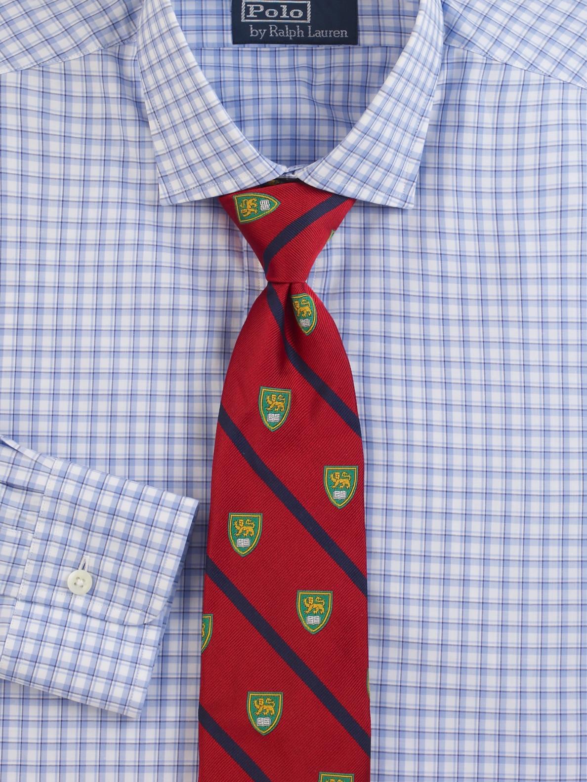 05669da4cf7e3 Lyst - Polo Ralph Lauren Printed Silk Tie in Red for Men