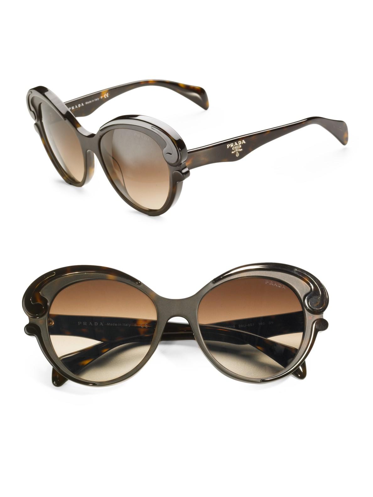 dc943f4a814 Prada Baroque Sunglasses in Blue (havana)