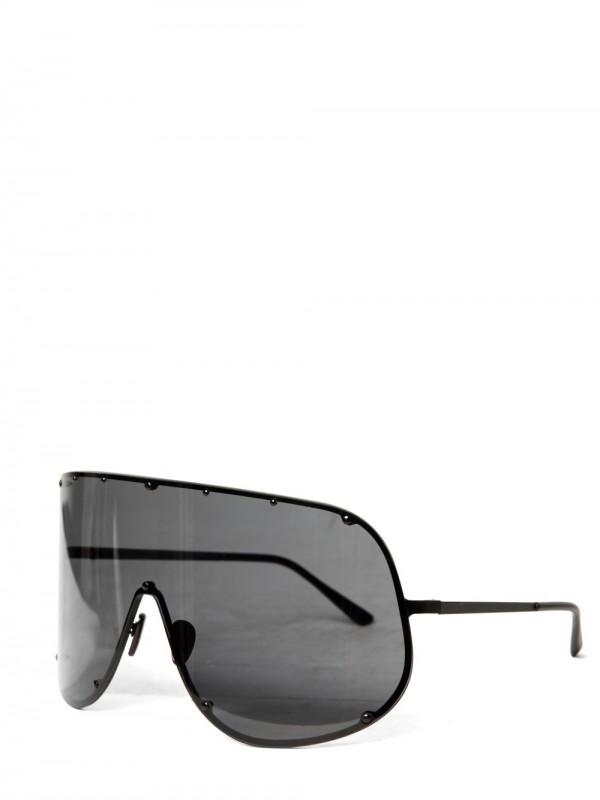 688159dd211 Lyst - Rick Owens Steel Wide Sunglasses in Black for Men
