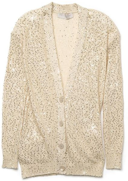 Stella Mccartney Sequin Cardigan in Beige (nude)