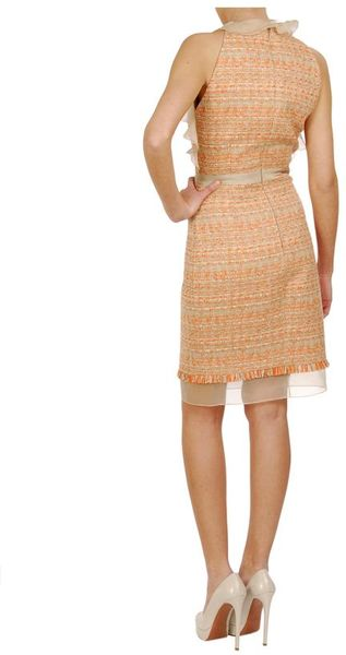 Brown Pencil Dress Valli Tweed Pencil Dress