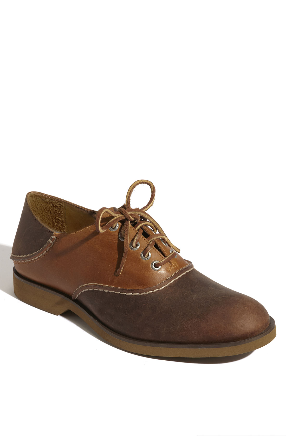 sperry top sider boat oxford saddle shoe in brown for