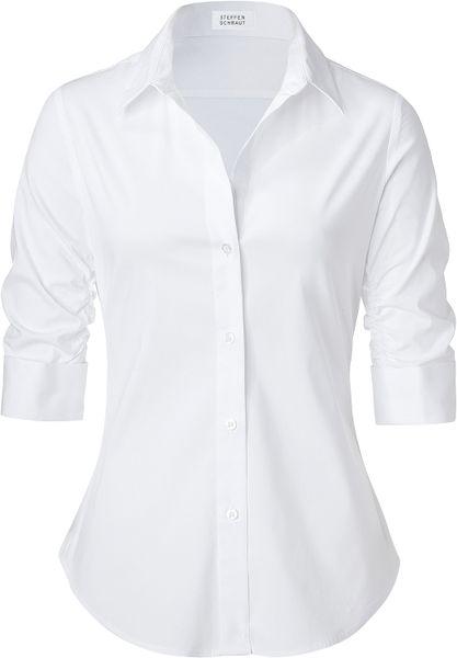 Steffen Schraut White Valencia Fancy Blouse in White