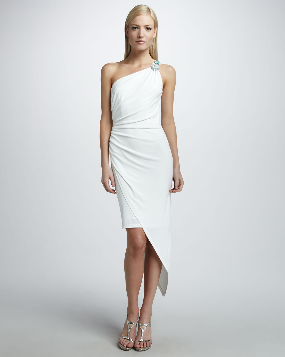 White One Shoulder Gown