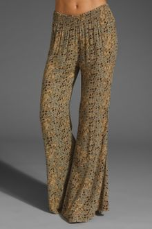 Free People Printed Wideleg Pull-on Pant - Lyst
