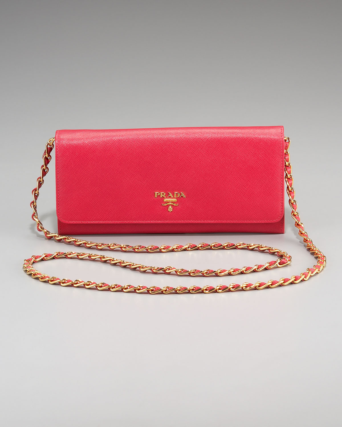 f9d83c3dbab6 spain prada black and red purse long checkbook wallet f868d 371d7  coupon  code for lyst prada saffiano chain crossbody wallet in red 16d8d e1eca