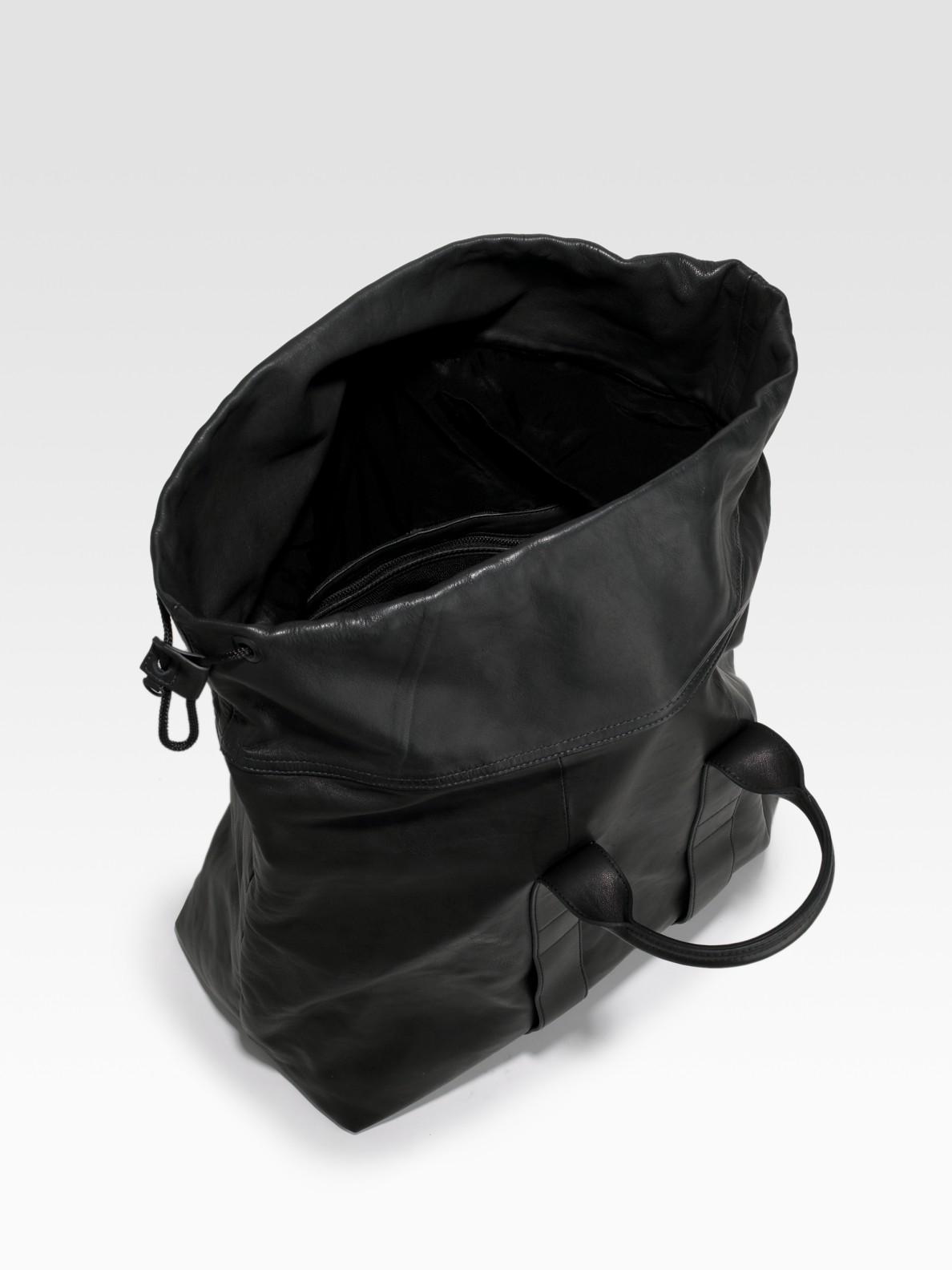3.1 phillip lim 31 Hour Drawstring Bag in Black for Men | Lyst