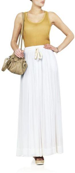 adam chiffon maxi skirt in white lyst