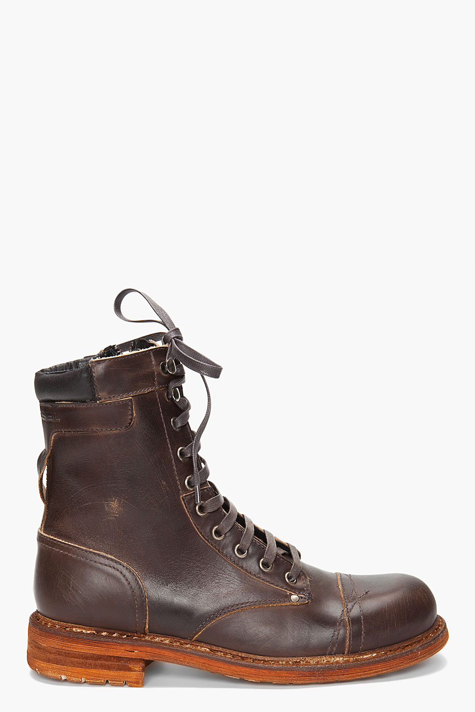 diesel scratched yell boots in brown for men lyst
