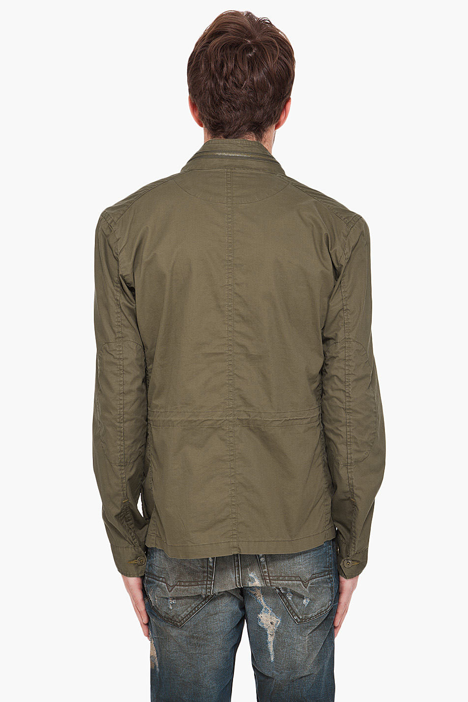 g star raw cl city overshirt in green for men lyst. Black Bedroom Furniture Sets. Home Design Ideas