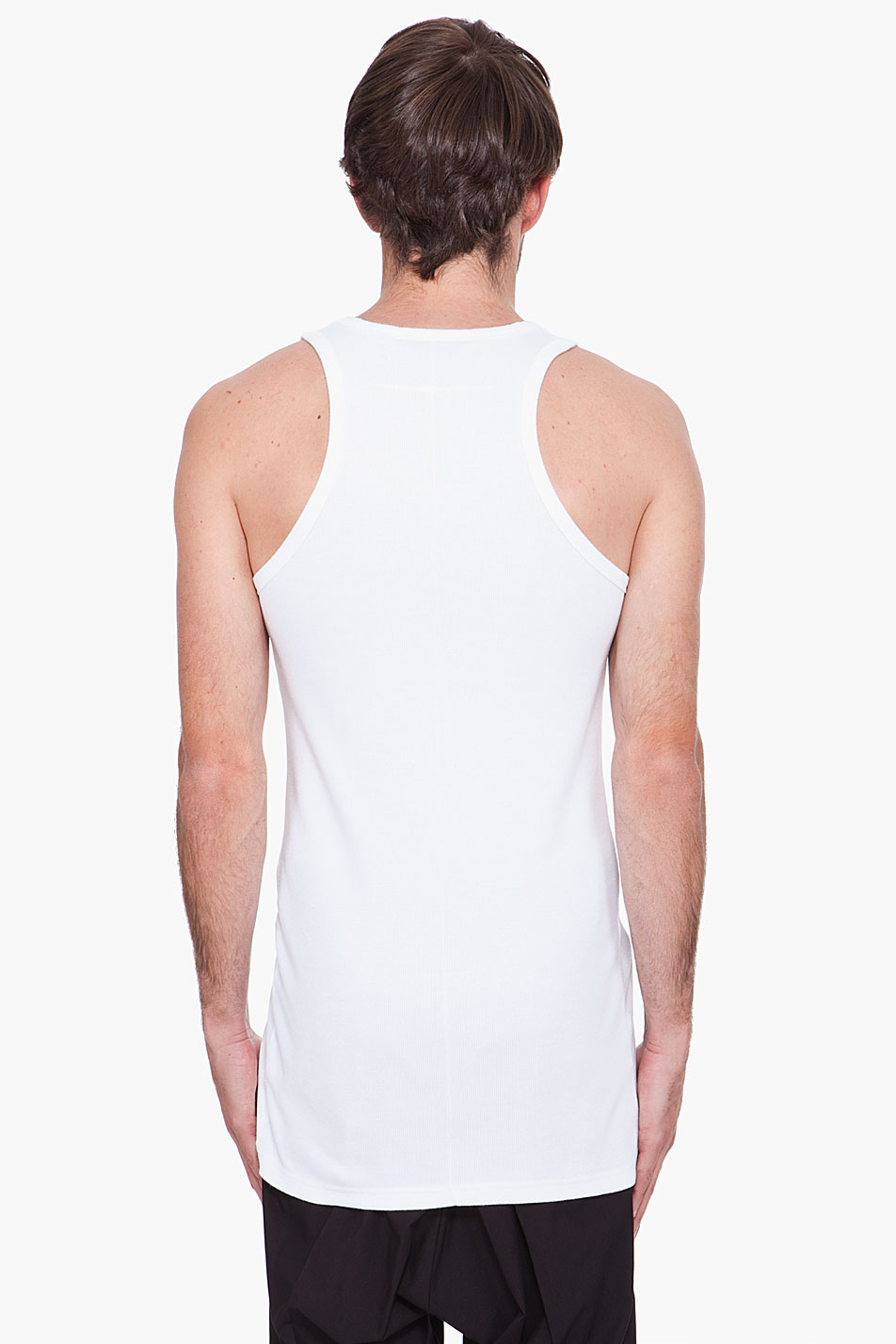5528c7dad4c3a Lyst - Givenchy White Cutout Tank Top in White for Men
